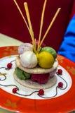 sundae πάγου κρέμας Στοκ Φωτογραφίες