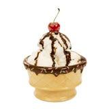 Sundae 2 мороженого Стоковое Изображение