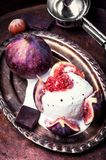 Summer ice cream with figs Stock Photo