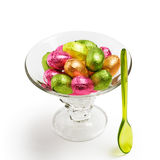 Sundae with Easter eggs Stock Photography
