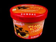 Sundae individual amigável do gelado do copo da manteiga de amendoim do ` s Imagens de Stock Royalty Free