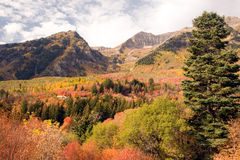Sundance autumn scenery. Scenic view of autumn landscape in Sundance, Utah, U.S.A stock photo