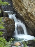 Sundance Canyon Waterfall Banff National Park Royalty Free Stock Photos