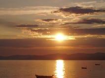 sundance morza Śródziemnego Obraz Stock