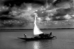 sundarban的渔夫 库存照片