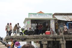 Sundarbans, India. Circa May 2013: Rural life near the docks by the Ganges delta royalty free stock image