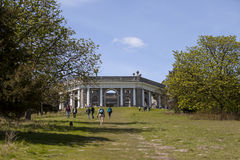 Sunday Afternoon in England. People were out exploring a part of Buckinghamshire on May day, enjoying the warm spring weather and the views from West Wycombe royalty free stock photo