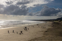 Sunday Afternoon on Muriwai Beach in New Zealand Royalty Free Stock Image