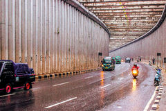 Sunday afternoon in Nagrek street Indonesia. The rain was falling in nagrek street, so I take shelter, and began taken my camera, I catch the moment royalty free stock image
