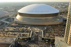 Sunday Afternoon at Superdome Royalty Free Stock Photography