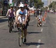 Sunday on bike Royalty Free Stock Image