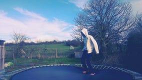 Sunday blue sky jump Stock Photography