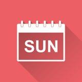 Sunday calendar page pictogram icon. Stock Photography
