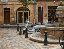 Sunday calmness in Aix en Provence. Sunday calmness in the old center of Aix en Provence, France Stock Images