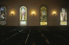A Sunday church service in Vicksburg Mississippi stock photo