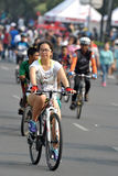 Sunday city cycling Royalty Free Stock Photography