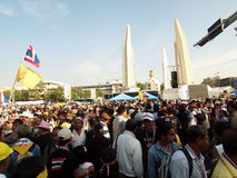 Sunday, Dec 22, 2013 protest anti the government of Shinawatra regimes Royalty Free Stock Image