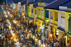 Sunday evening street food market at Thalang Road in Phuket Old Town
