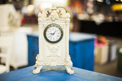 Sunday flea market. Beautifull old antique standing clock Stock Photo