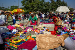 Sunday Flea Market. Flea market called Ravivari or Sunday market of Ahmedabad/India is a living heritage almost 600 years old Royalty Free Stock Images