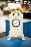 Sunday flea market. Decorative antique clock at flea market Royalty Free Stock Images