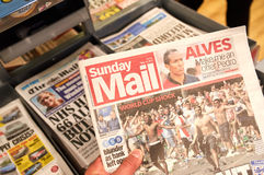 The Sunday Mail newspaper. Royalty Free Stock Image