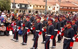 Sunday Marching parade Arequipa Stock Photo