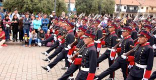 Sunday Marching parade Arequipa Royalty Free Stock Photography