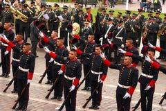 Sunday Marching parade Arequipa Royalty Free Stock Image