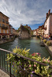 Sunday market. View from a bridge on a bright sunny day royalty free stock photography