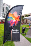 Sunday Market Flag Melbourne Arts Centre Royalty Free Stock Image