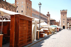 Sunday Market in Piazza Trento e Trieste Stock Photography