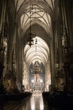 Sunday Mass in Stephansdom, Vienna, Austria royalty free stock photography