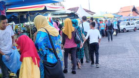 Sunday morning shopping. Photo taken on the 30th. April 2016 at Kuala Trengganu town, Malaysia Stock Images