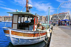 Sunday at the Old Port of Marseille, France Stock Image
