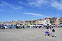 Sunday at the Old Port of Marseille, France Stock Photo