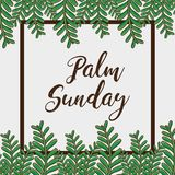 Sunday palm branches religion background. Vector illustration royalty free illustration