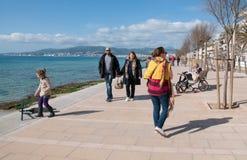 Sunday promenade Molinar Royalty Free Stock Photography