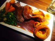 Sunday roast dinner. Sunday roast vedge Stock Images
