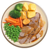 Sunday Roast Lamb Dinner Royalty Free Stock Photography