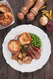 Sunday roast with yorkshire pudding Stock Photography