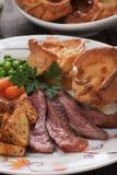 Sunday roast with yorkshire pudding Stock Photography