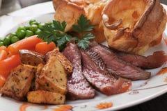 Sunday roast with yorkshire pudding Stock Image
