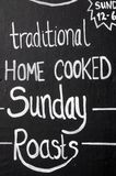 Sunday roasts chalkboard. Royalty Free Stock Photo