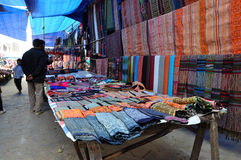 Sunday rural market in Bac Ha, Vietnam Royalty Free Stock Image