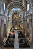 Sunday`s Mass at Mafra royalty free stock image