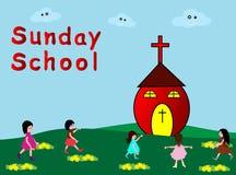 Sunday School. Children go to Sunday School -Christian Sunday School Stock Photo
