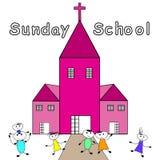 Sunday School. Children go to Sunday School -Christian Sunday School Royalty Free Stock Image
