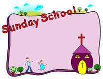 Sunday school frame Royalty Free Stock Images