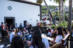 Sunday Services in Camara de Lobos  is a fishing village is near the city of Funchal a Stock Photography